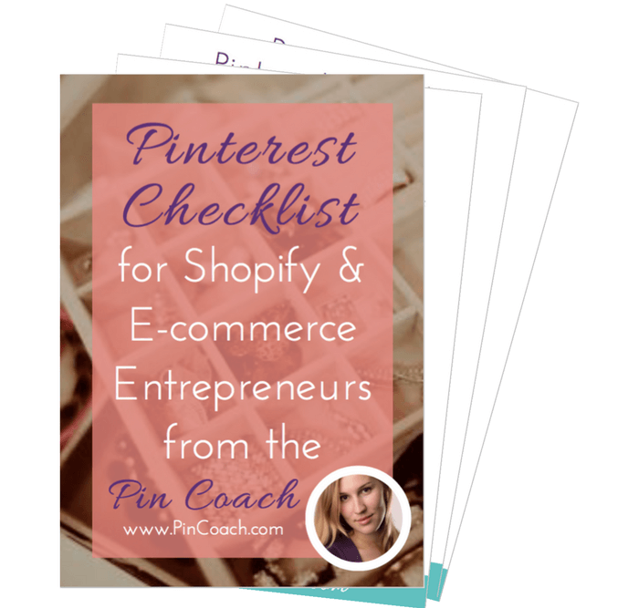 A thorough checklist to make sure your e-commerce brand's Pinterest profile is optimized to bring in more traffic and increase sales!