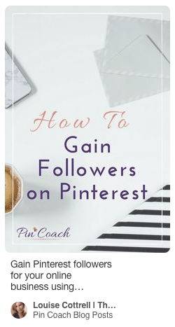 This is what a Pinterest pin looks like before 'Rich Pins' are activated.